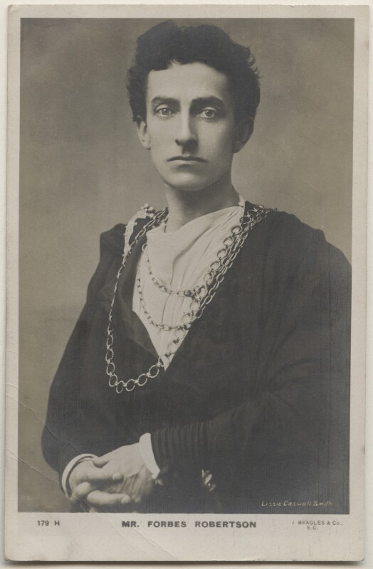 Sir Johnston Forbes-Robertson as Hamlet in 'Hamlet', by Lizzie Caswall Smith, published by  J. Beagles & Co, 1900s (1897) - NPG x196359 - © National Portrait Gallery, London
