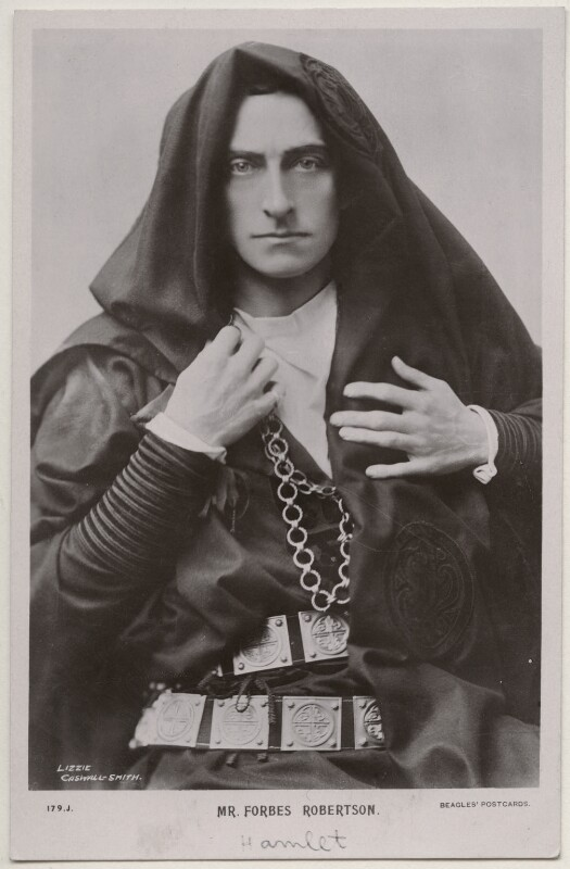 Sir Johnston Forbes-Robertson as Hamlet in 'Hamlet', by Lizzie Caswall Smith, published by  J. Beagles & Co, 1900s (1897) - NPG x196360 - © National Portrait Gallery, London