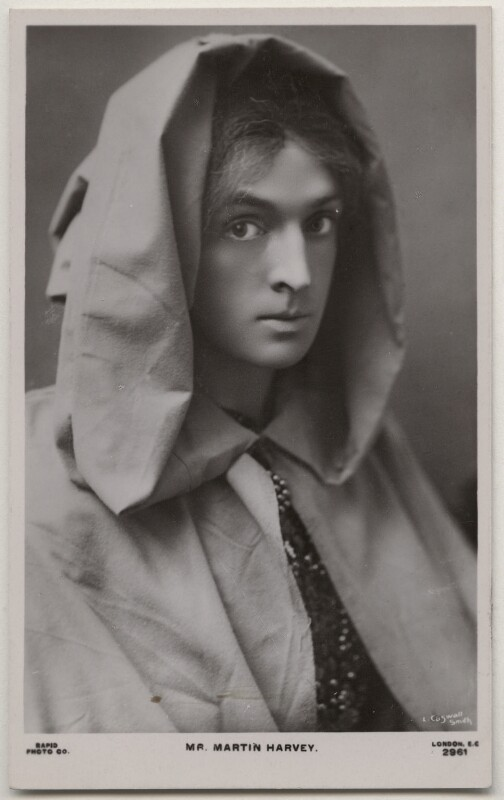 Sir John Martin-Harvey as Pelleas in 'Pelleas and Melisande', by Lizzie Caswall Smith, published by  Rapid Photo Co, 1911 - NPG x196363 - © National Portrait Gallery, London