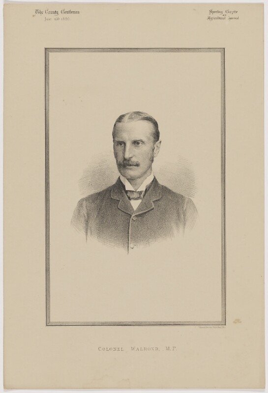 William Hood Walrond, 1st Baron Waleran, printed by Vincent Brooks, Day & Son, published in The Country Gentleman, Sporting Gazette and Agricultural Journal 26 June 1886 - NPG D46180 - © National Portrait Gallery, London
