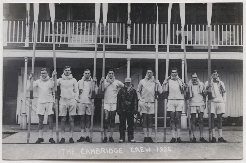 Cambridge rowing crew, 1926, by Mrs Albert Broom (Christina Livingston), 1926 - NPG x198227 - © National Portrait Gallery, London