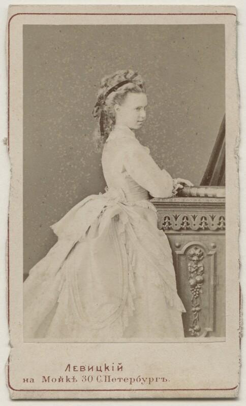 Marie Alexandrovna, Duchess of Edinburgh, by Sergey Lvovich Levitsky, 1873 - NPG x29742 - © National Portrait Gallery, London