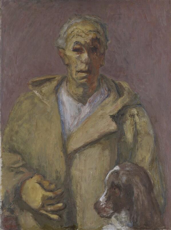 Henryk Gotlib, Self-Portrait in a Duffle Coat, by Henryk Gotlib, 1956 - NPG 7015 -