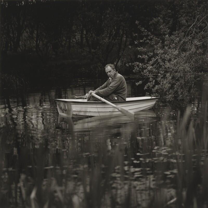 Ian Hamilton Finlay, by Robin Gillanders, 1996 - NPG x199348 - © Photograph Robin Gillanders