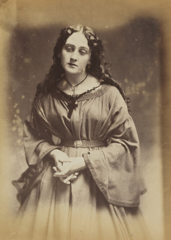'A devotee' (Unknown woman), by Oscar Gustav Rejlander, 1860-1866 - NPG P2011(4) - © National Portrait Gallery, London