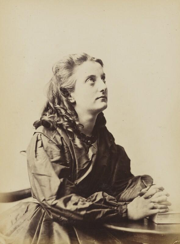 'Prayer' (Unknown young woman), by Oscar Gustav Rejlander, 1860-1866 - NPG P2011(7) - © National Portrait Gallery, London