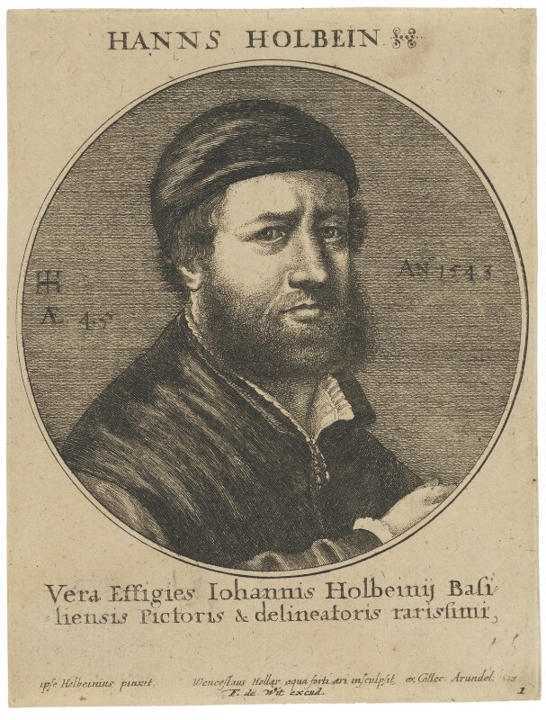 Hans Holbein the Younger, by Wenceslaus Hollar, published by  Frederick de Wit, after  Hans Holbein the Younger, 1647 (1543) - NPG D45759 - © National Portrait Gallery, London