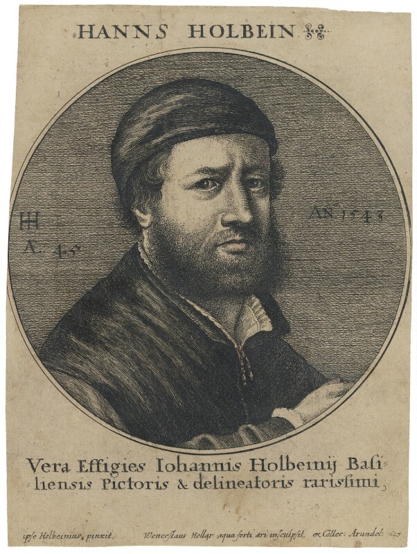 Hans Holbein the Younger, by Wenceslaus Hollar, after  Hans Holbein the Younger, 1647 (1543) - NPG D45760 - © National Portrait Gallery, London
