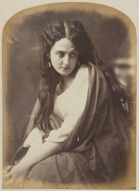 'Sadness' (Unknown woman), by Oscar Gustav Rejlander, 1860-1866 - NPG P2011(30) - © National Portrait Gallery, London