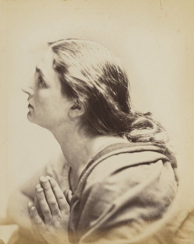'I Pray' (Unknown woman possibly Mary Rejlander (née Bull)), by Oscar Gustav Rejlander, 1860-1866 - NPG P2011(36) - © National Portrait Gallery, London