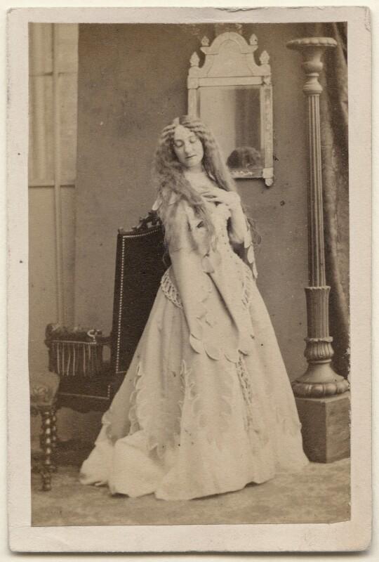 Caroline Heath as Fiordelisa in 'The Fool's Revenge', by Camille Silvy, October 1859 - NPG x196206 - © National Portrait Gallery, London