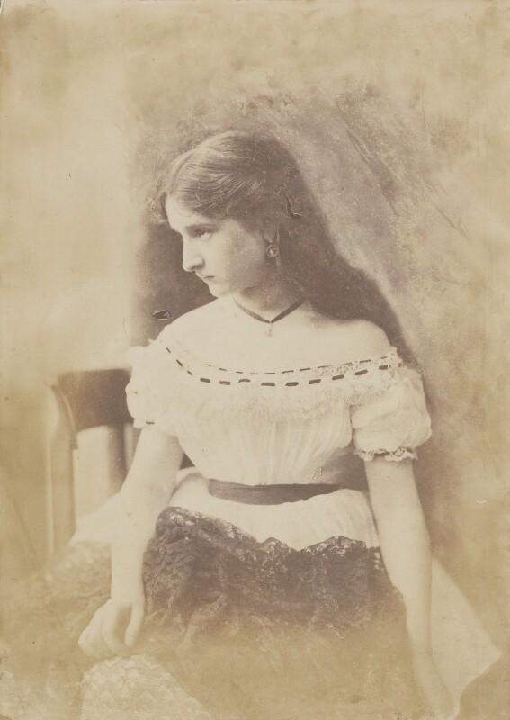 Unknown young woman, by Oscar Gustav Rejlander, 1860-1866 - NPG P2011(47) - © National Portrait Gallery, London