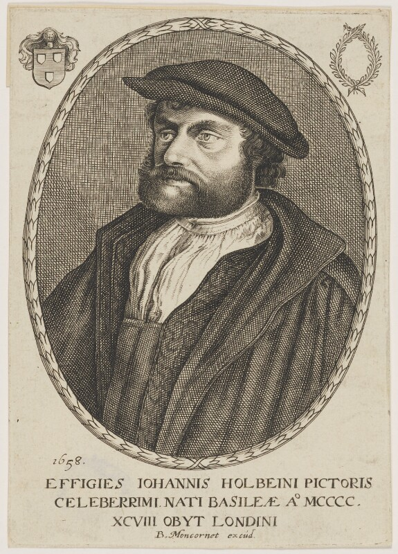 Hans Holbein the Younger, published by Balthasar Moncornet, after  Hans Holbein the Younger, 1658 - NPG D45767 - © National Portrait Gallery, London