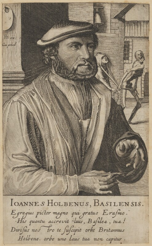 Hans Holbein the Younger, by and published by Hendrik Hondius (Hond), published circa 1610 - NPG D45769 - © National Portrait Gallery, London
