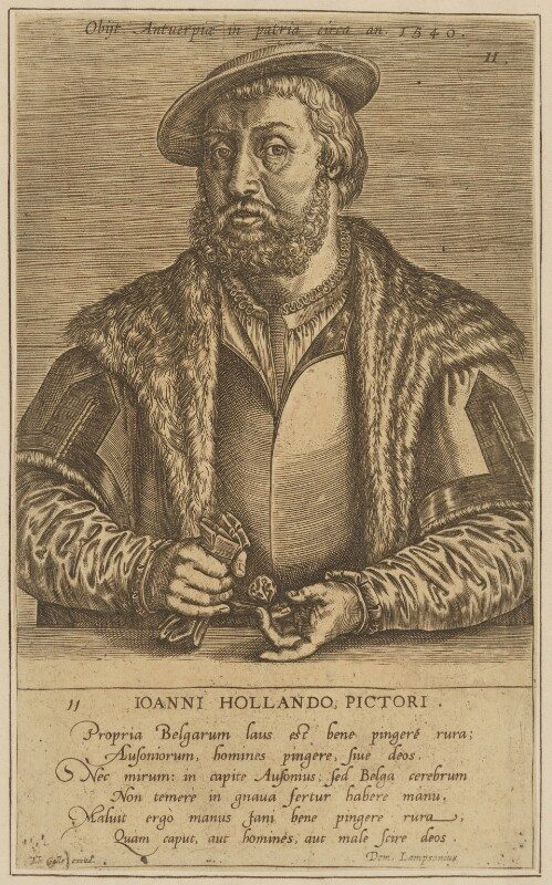 Jan van Amstel, by Johan Wierix, published by  Theodor Galle, circa 1572 - NPG D45771 - © National Portrait Gallery, London