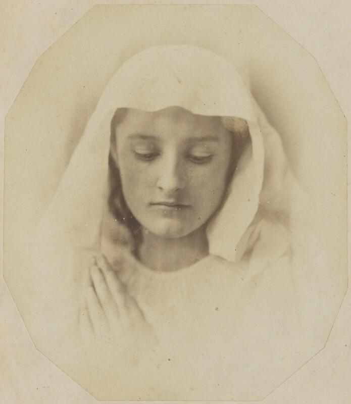 'The Virgin in prayer', by Oscar Gustav Rejlander, circa 1857 - NPG P2011(68) - © National Portrait Gallery, London