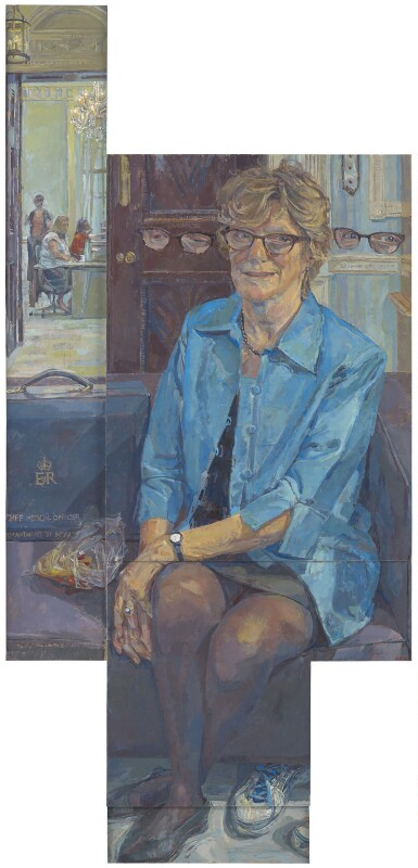 Dame Sally Davies, by Daphne Todd, 2016 - NPG 7022 - © National Portrait Gallery, London