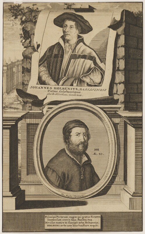 Called Hans Holbein the Younger; Hans Holbein the Younger, published by Musaeo Feschiano (Faesch Museum), after  Hans Holbein the Younger, 18th century - NPG D45770 - © National Portrait Gallery, London