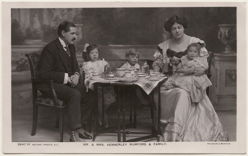 'Mr & Mrs Kennerley Rumford & Family', by Foulsham & Banfield, published by  Rotary Photographic Co Ltd, circa 1906 - NPG x196318 - © National Portrait Gallery, London