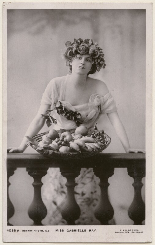 Gabrielle Ray, by W. & D. Downey, published by  Rotary Photographic Co Ltd, circa 1906 - NPG x196346 - © National Portrait Gallery, London
