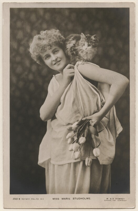 Marie Studholme (Marion Lupton), by W. & D. Downey, published by  Rotary Photographic Co Ltd, circa 1904 - NPG x196250 - © National Portrait Gallery, London