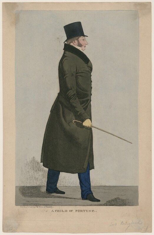 John Fane, 11th Earl of Westmorland when Lord Burghersh ('A Child of Fortune'), published by Samuel William Fores, after  Richard Dighton, published 2 December 1822 - NPG D47082 - © National Portrait Gallery, London