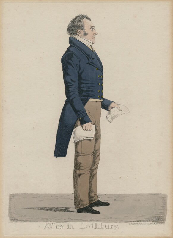 Jones Lloyd ('A view in Lothbury'), probably by and published by Richard Dighton, reissued by  Thomas McLean, circa 1817-1825 - NPG D47093 - © National Portrait Gallery, London