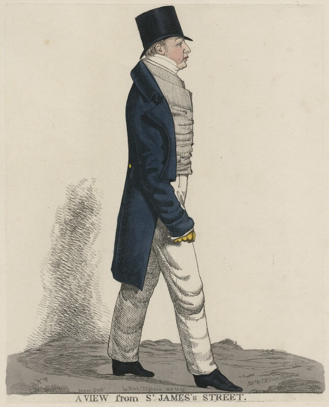 Dudley Ryder, 1st Earl of Harrowby ('A view from St James's Street'), by and published by Richard Dighton, reissued by  Thomas McLean, May 1818 - NPG D47094 - © National Portrait Gallery, London