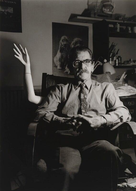 Conroy Maddox, by Michael Woods, 1988 - NPG x196215 - © Michael Woods