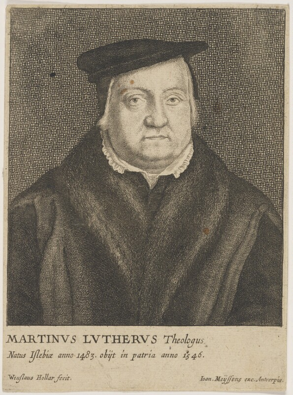 Called Martin Luther; possibly Gaspar Schets, by Wenceslaus Hollar, published by  Johannes Meyssens, mid 17th century - NPG D47383 - © National Portrait Gallery, London