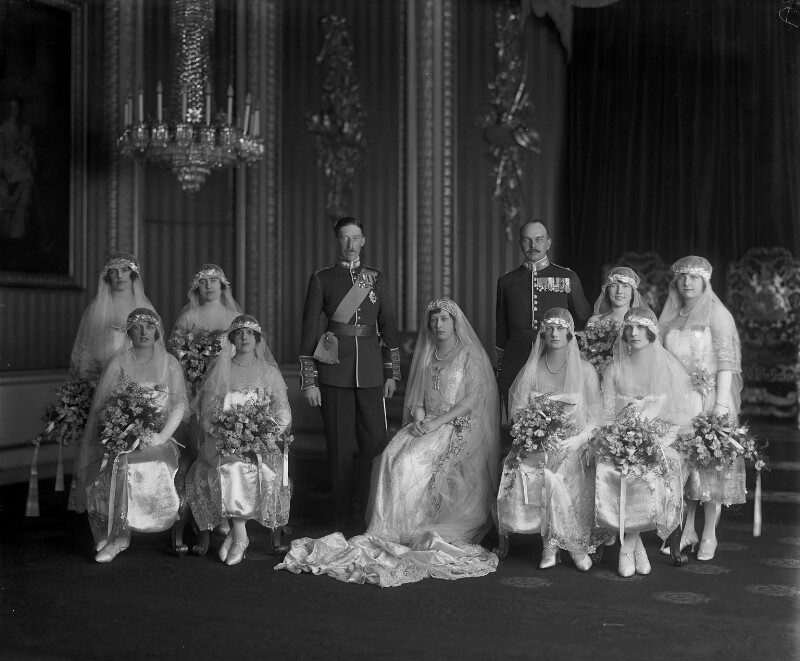 'The Wedding of 6th Earl of Harewood and Princess Mary', by Vandyk, 28 February 1922 - NPG x130256 - © National Portrait Gallery, London