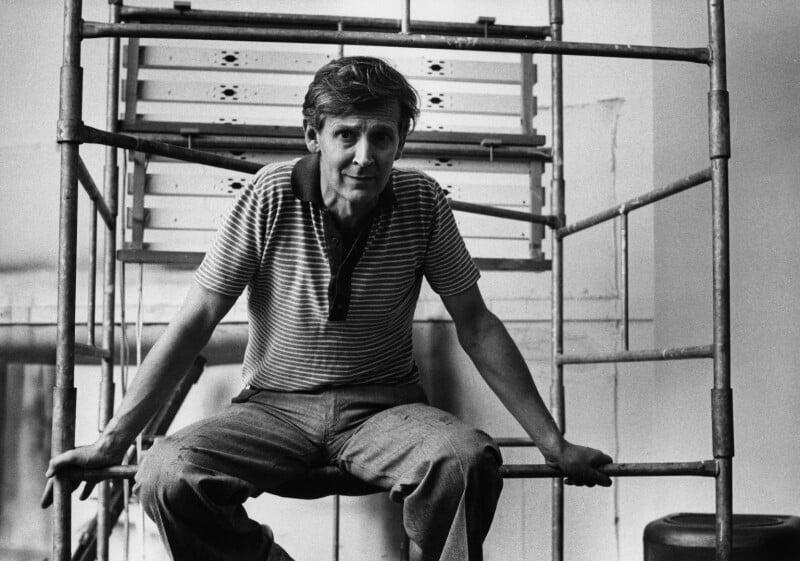Michael James Andrews, by Harry Diamond, 18 August 1975 - NPG x210002 - © National Portrait Gallery, London