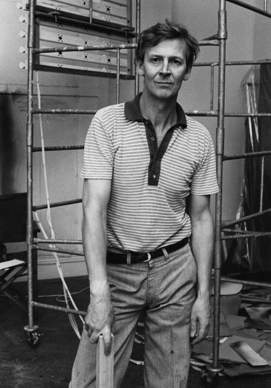 Michael James Andrews, by Harry Diamond, 18 August 1975 - NPG x210004 - © National Portrait Gallery, London
