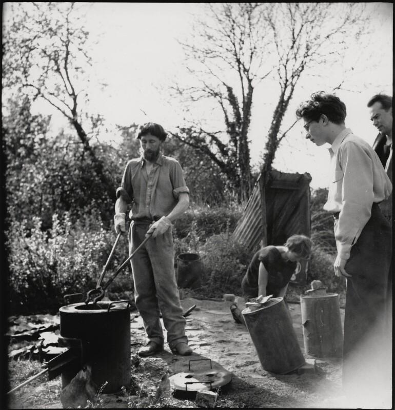 Peter King; Shelagh Loader; John Kasmin; Victor Musgrave, by Ida Kar, 1955 - NPG x199679 - © National Portrait Gallery, London