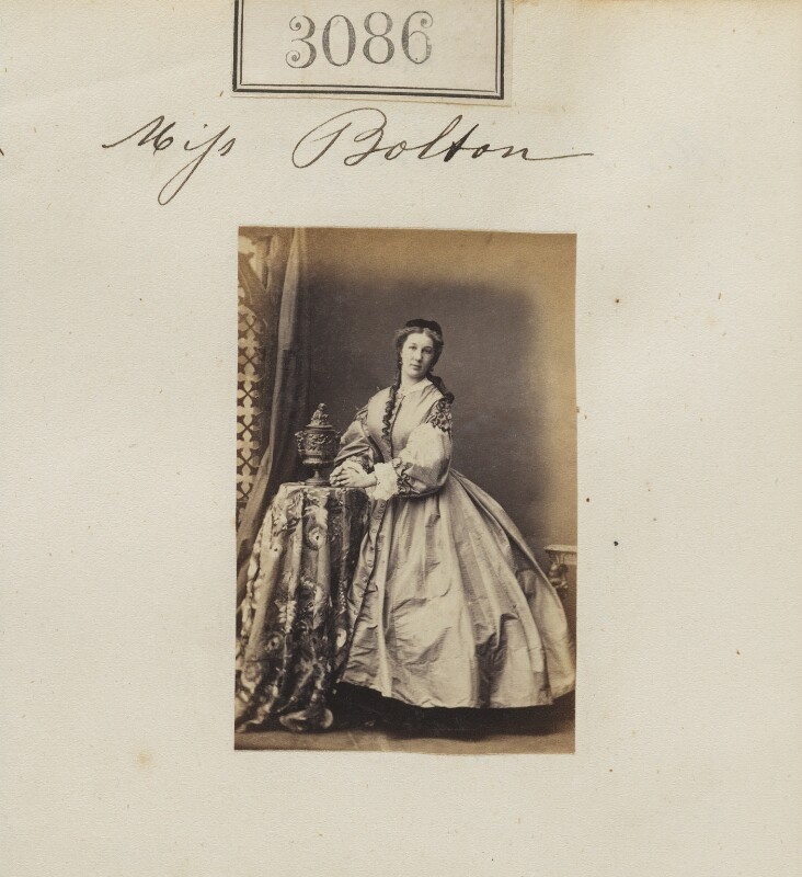 Miss Bolton, by Camille Silvy, 16 April 1860 - NPG Ax52487 - © National Portrait Gallery, London