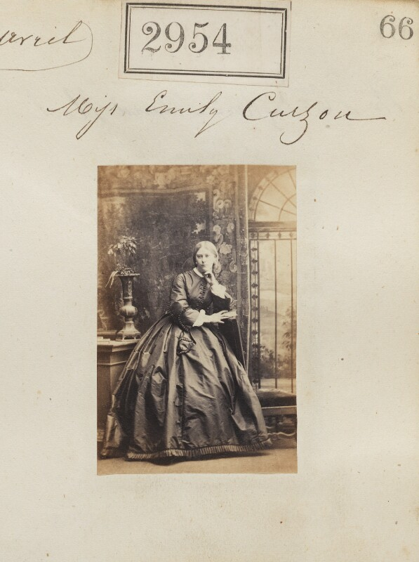 Emily Curzon, by Camille Silvy, 10 April 1860 - NPG Ax52353 - © National Portrait Gallery, London