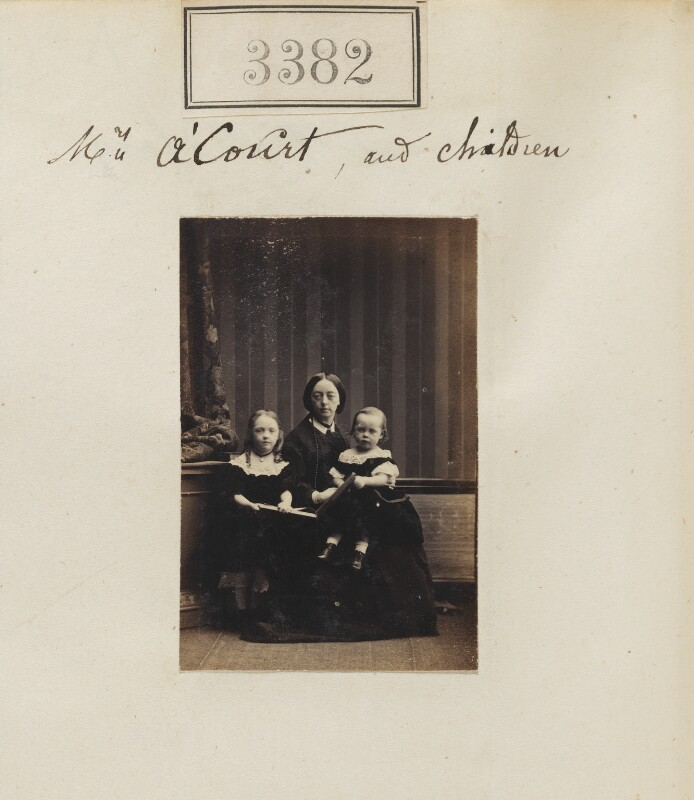 Mrs A'Court and children, by Camille Silvy, 30 April 1867 - NPG Ax52779 - © National Portrait Gallery, London