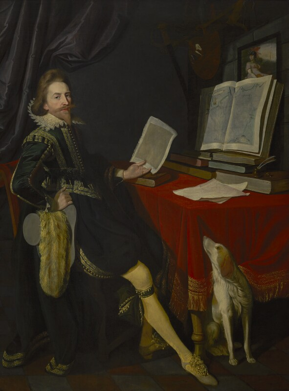 Sir Nathaniel Bacon, by Sir Nathaniel Bacon, circa 1620 - NPG L260 -