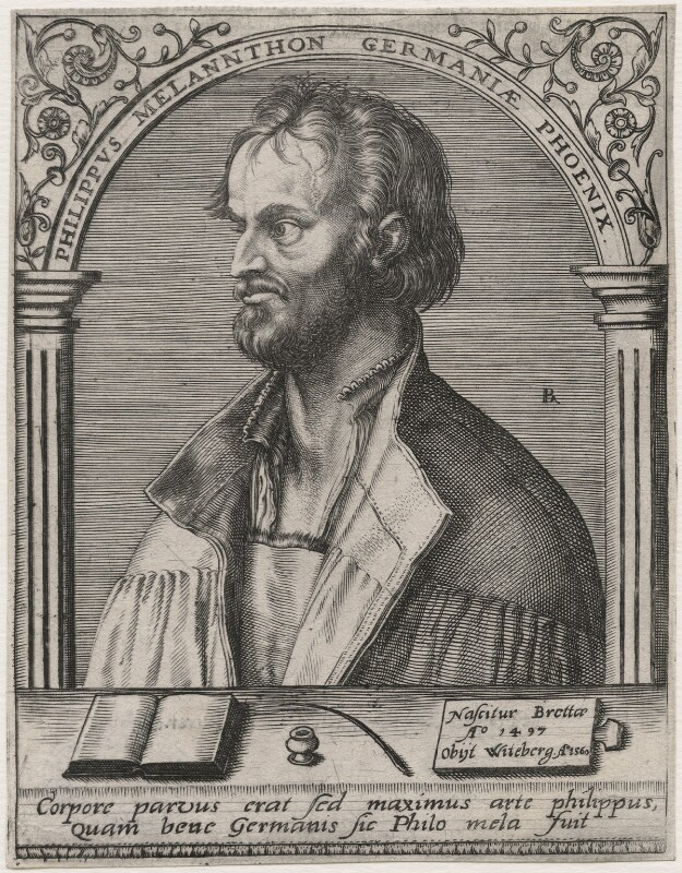 Philipp Melanchthon, by Robert Boissard, after  Albrecht Dürer, 1585-1601 - NPG D48079 - © National Portrait Gallery, London