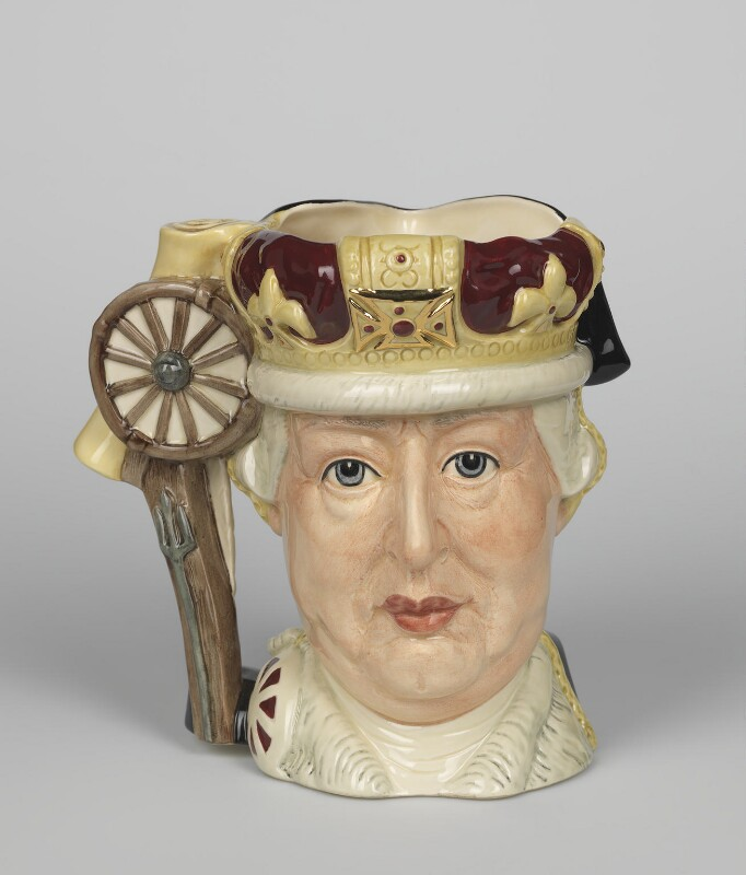 King George III; George Washington, designed by Michael Abberley, manufactured by  Doulton & Co Ltd, 1985 - NPG D48091 - © National Portrait Gallery, London