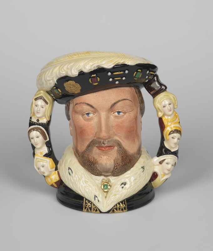 'King Henry VIII and his Six Wives', designed by William K. Harper, manufactured by  Doulton & Co Ltd, 1990 - NPG D48093 - © National Portrait Gallery, London