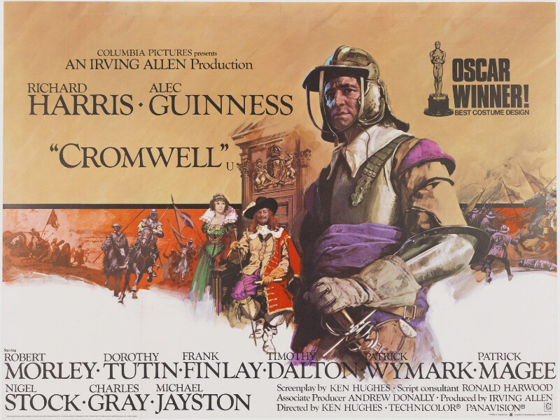 'Cromwell' (Dame Dorothy Tutin as Henrietta Maria; Sir Alec Guinness as King Charles I; Richard Harris as Oliver Cromwell), by Eric William Pulford, and  Arnaldo Putzu, printed by  Lonsdale & Bartholomew (Nottingham) Ltd, published by  National Screen Service Ltd, 1971 - NPG D48110 - Photo: © National Portrait Gallery, London