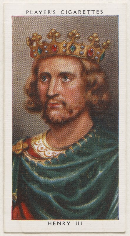 King Henry III, published by John Player & Sons, after  George Vertue, 1935 - NPG D48118 - © National Portrait Gallery, London