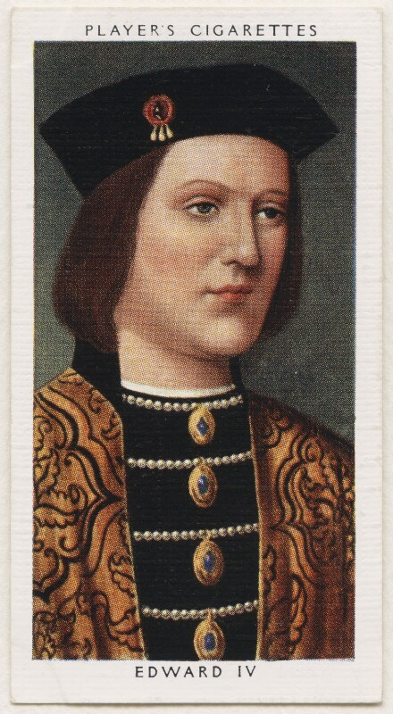 King Edward IV, published by John Player & Sons, after  Unknown artist, 1935 - NPG D48126 - © National Portrait Gallery, London