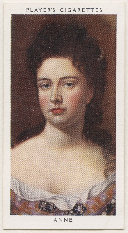 Queen Anne, published by John Player & Sons, after  Sir Godfrey Kneller, Bt, 1935 - NPG D48146 - © National Portrait Gallery, London