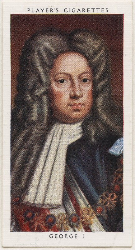King George I, published by John Player & Sons, after a portrait attributed to the studio of  Sir Godfrey Kneller, Bt, 1935 - NPG D48147 - © National Portrait Gallery, London