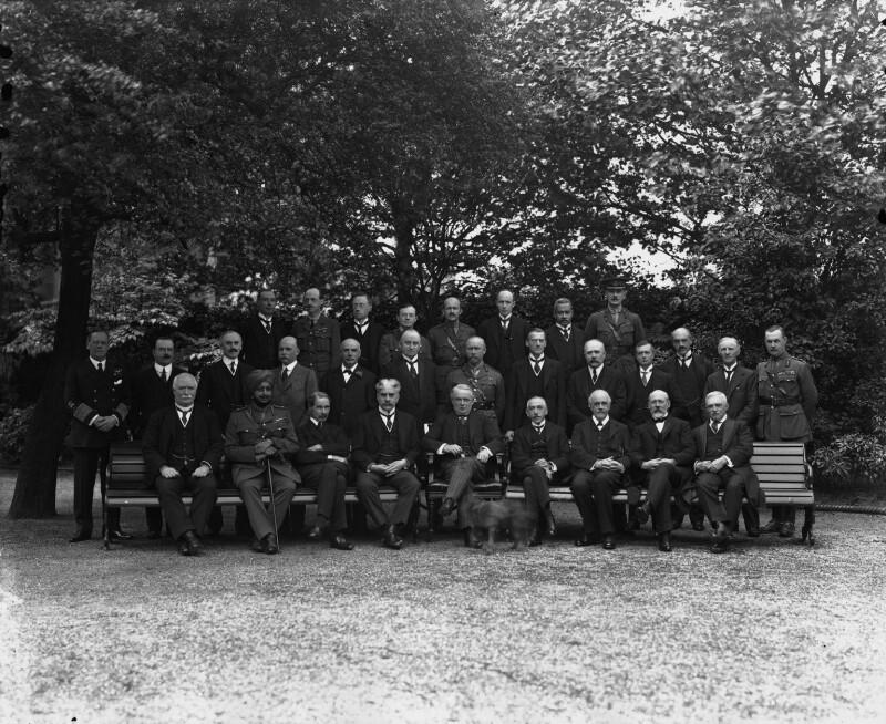 The Imperial War Cabinet, by Vandyk, 25 June 1918 - NPG x32124 - © National Portrait Gallery, London