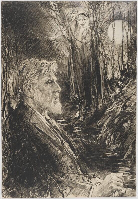Robert Bridges, by Eric Pape, published 6 April 1930 - NPG D48181 - © National Portrait Gallery, London