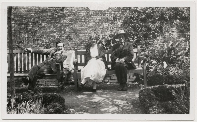Simon Bussy; Vanessa Bell; Duncan Grant, by Lady Ottoline Morrell, 1922 - NPG x141318 - © National Portrait Gallery, London