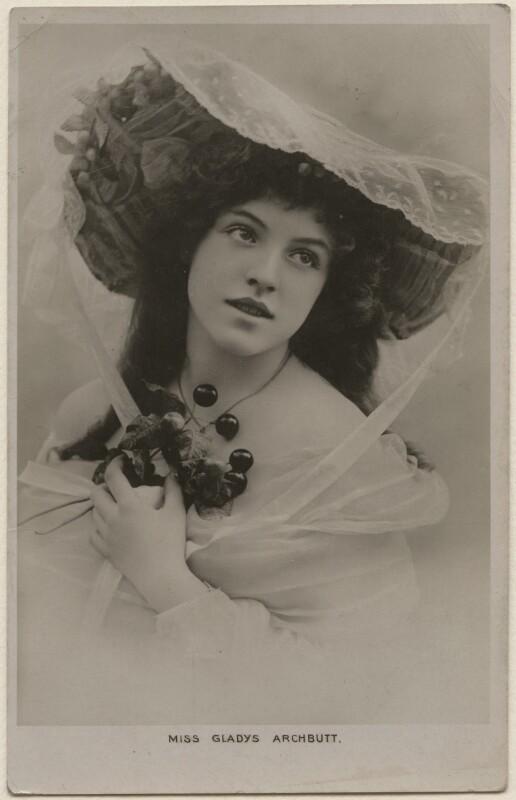 Gladys Violet Archbutt, by Lallie Charles, 1900-1910 - NPG x194503 - © National Portrait Gallery, London